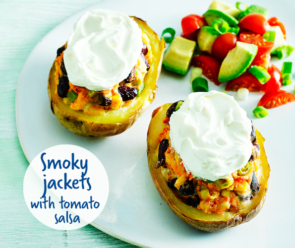 Philadelphia smoky jackets with tomato salsa